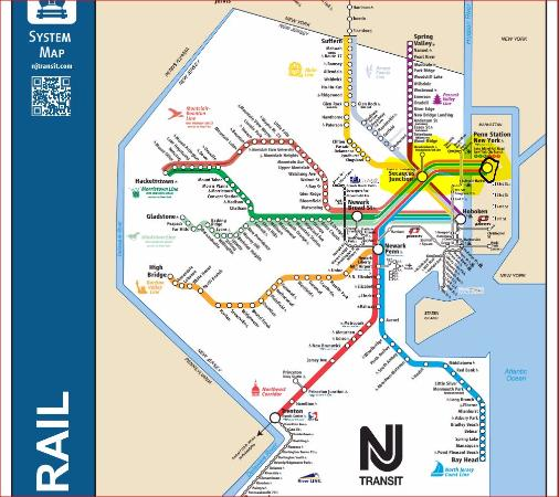 Metlife Stadium Nj Transit Trains From All Over Highlighted In Yellow From Nyc
