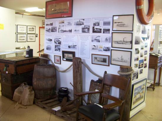 Kelleys Island, OH: This wall tells the story of the boats that served the Island.