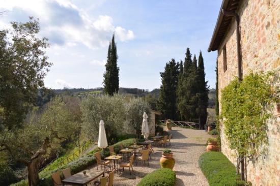 Tenuta Sant'Ilario: Hier kann man im Freien frühstücken....
