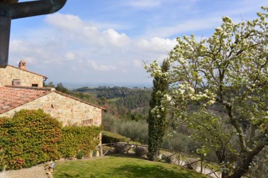 Tenuta Sant'Ilario: Blick aus dem Schlafzimmer