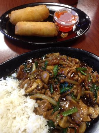 Monona, WI: Wild Mongolian with beef & signature spring rolls