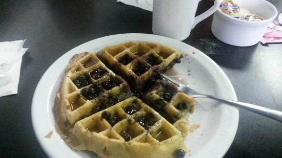 Ellwood City, PA: The Blueberry Waffle....there are tons of blueberries in this waffle with whipped cream if you w