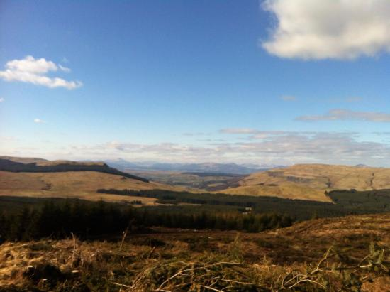 Fintry, UK: View Northwest to Munros