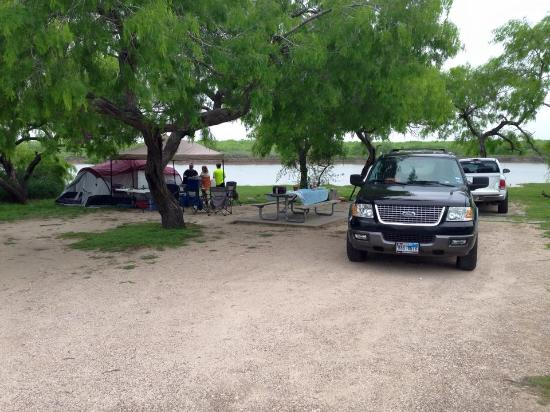 Rio Hondo, TX: nice large campsite #1 with water and electricity