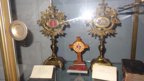 Saint Anthony Chapel: reliquaries in the museum like the ones found inside the church.