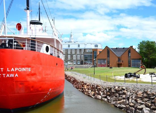 L'Islet, Canada: Vue à partir du Fleuve St-Laurent du parc du Musée