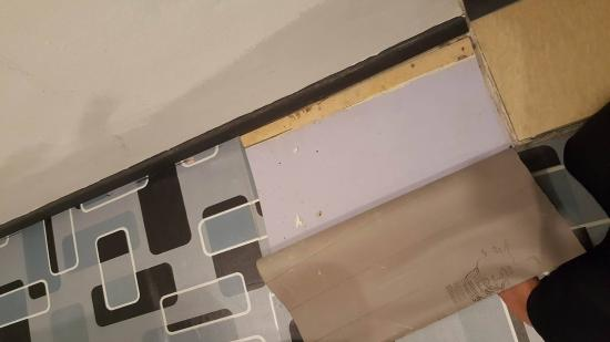 Golden Leaf Hotel : i didnt vandalized the floor, it was like that, i just flipped open it and exposed the plywood