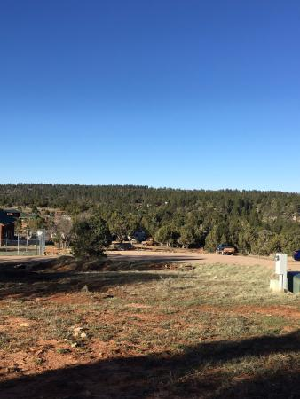 Zion Ponderosa Ranch Resort: The view from our cabin