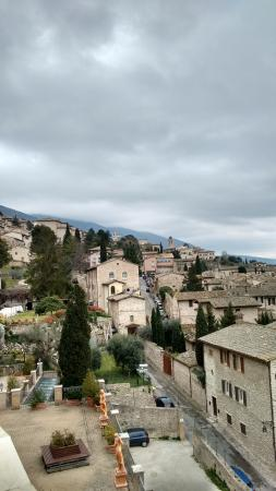 Hotel Giotto Assisi: View from hotel terrace