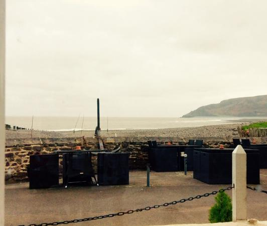 Porlock Weir, UK: View from my table.