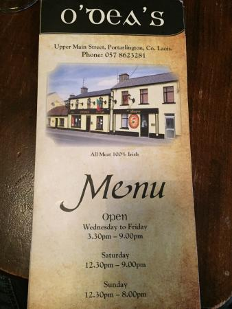 Portarlington, Irlanda: O'Dea's Bar And Bistro