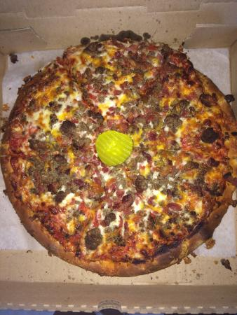 Rumford, RI: Bacon cheeseburger pizza
