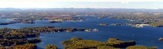 Moneta, Βιρτζίνια: Aerial view of Smith Mountain Lake