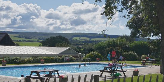 The Orchards Holiday Caravan and Camping Park: Our heated outdoor pool, open late May to early September.