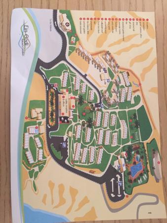 Kibbutz Ein Gedi Country Hotel : Plano del kibbutz - con el hotel, comedores, piscinas, spa, etc.