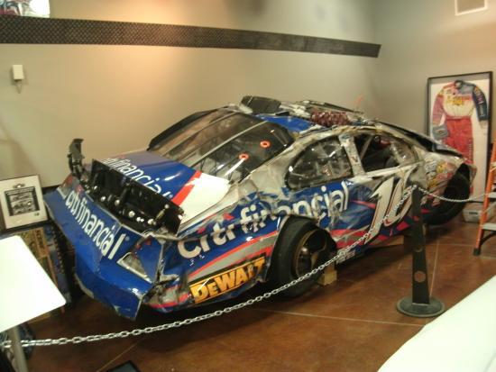Matt Kenseth Museum: Kenseth's wrecked Nationwide car