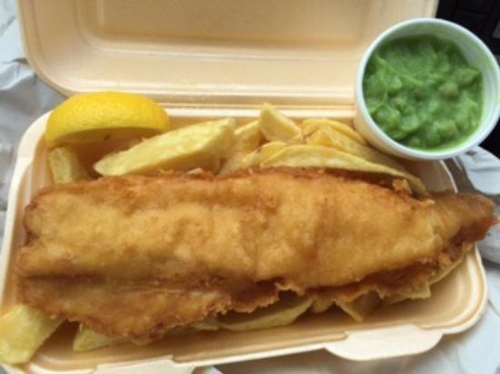 Smart Fish Bar: Fish and Chips and Mushy Peas take out