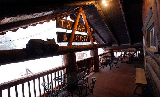 Hungry Horse, MT: Lodge Balcony