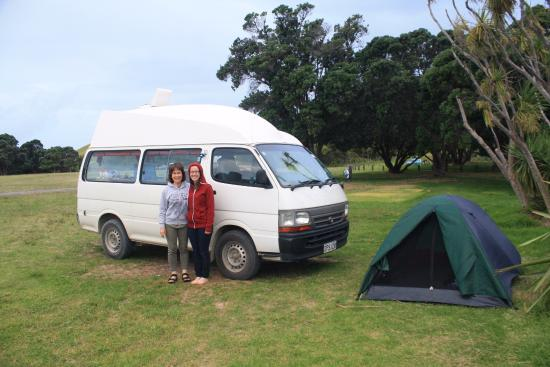 Whangaparaoa, New Zealand: Our first night in a camper van