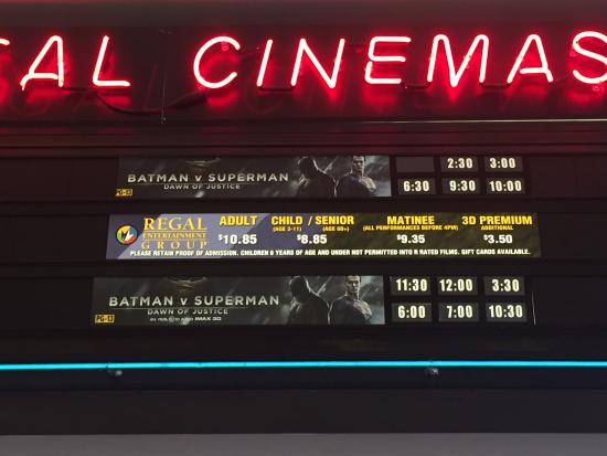 movie times picture of regal cinemas arnot mall 10