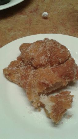 Wayland, MI: Indian Fry Bread. Cinnamon Sugar variety. Fry Bread Burger.