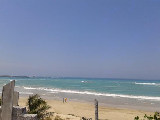 Пуерто-Вильямиль, Эквадор: Playa Isla Isabela. Vista desde Hostal Delfines