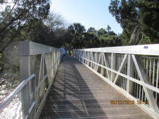 Spring Hill, FL: Bridge over river--L.P. Park