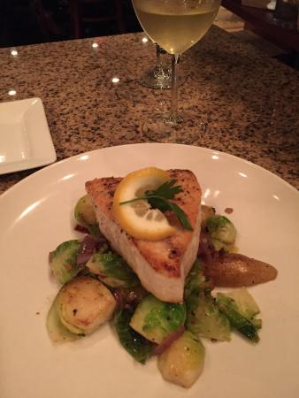 """Webster Groves, MO: Perfect. Waiter knew after I said """"buttery Chardonnay"""" to bring a Rombauer.  Then swordfish w Br"""