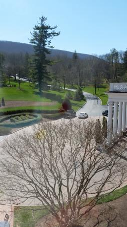 Hot Springs, VA: Notice the 1766 in the shrubery - that is the year the hotel was founded.