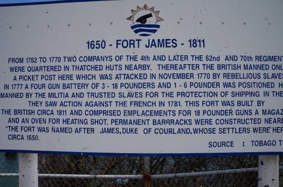 Plymouth, Tobago: Info Board @ Fort James