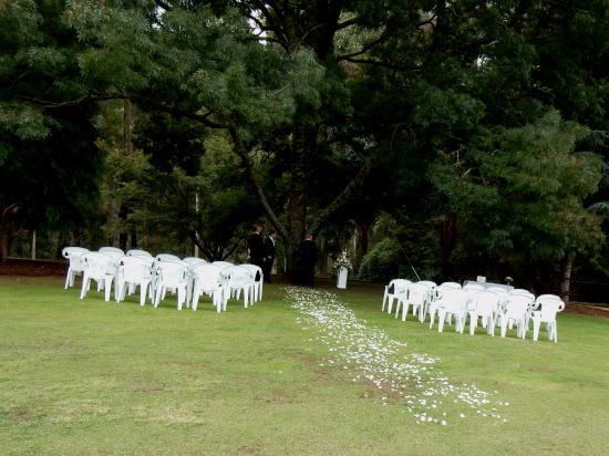 Kalorama, Australia: Set up for the wedding ceremony