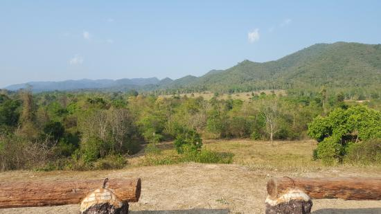 Prachuap Khiri Khan Province, Thailand: Looking at elephants in the distance