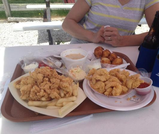 Buzzards Bay, Массачусетс: Fried Seafood Rafts