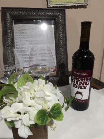 Bryan, TX: It's Aggie Ring Day at the winery...