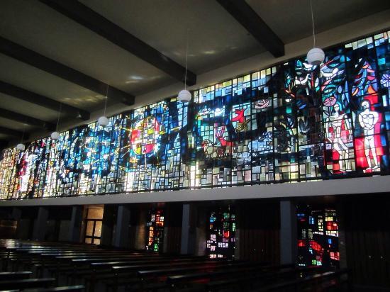 Weert, Niederlande: Glas-in-lood raam