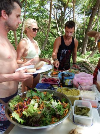 The Green Rooms: Group picnic and surf