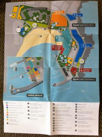 Map of the grounds Picture of Barcelo Castillo Beach Resort