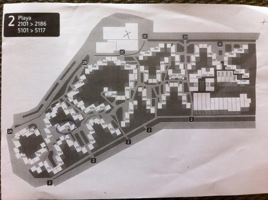 Map of the upport floor rooms 2000 block Picture of Barcelo