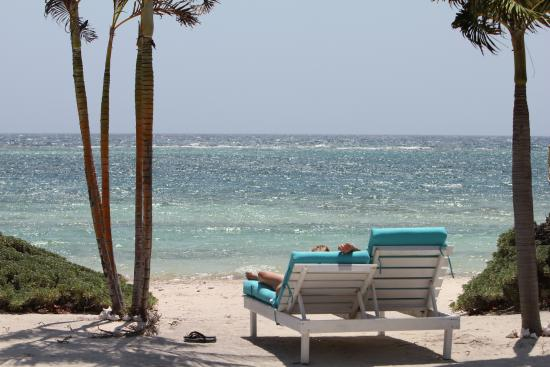 Turneffe Island, Belice: Taken from the front step of Cottage 10.