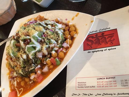 Samosa Chaat - Appetizer at Saaz