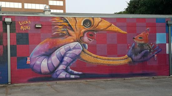 nearby mural