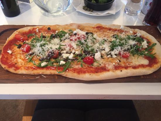 ASK Italian - London - Finchley: Goats cheese pizza and chef's salad