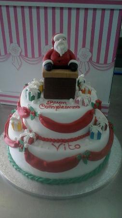Torta compleanno tema natalizio domiva - Decorazioni torte natalizie ...