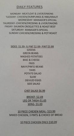 Shively, KY: menu