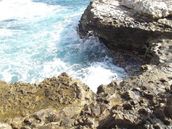 Devil's Bridge: crashing waves