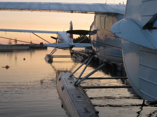 Greenville Junction, ME: Sunrise at Currier's Seaplane Base