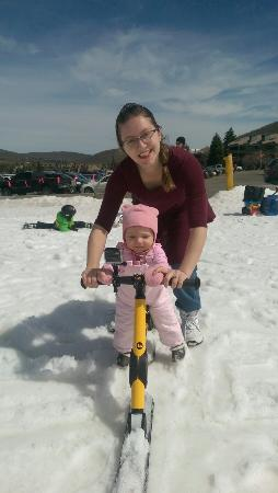 15month isabella 1st day skibiking ソルト レイク シティ utah