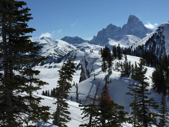 Grand Targhee Ski Resort: Tetons as seen from Grand Targhee