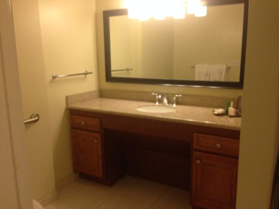 Hilton Grand Vacations At SeaWorld Vanity In Master Bathroom Two Entrances