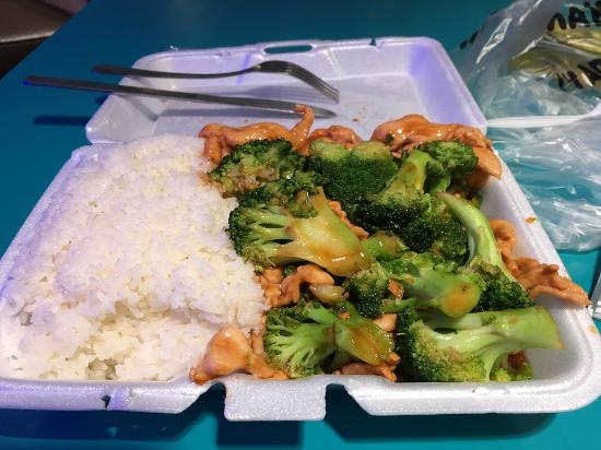 Chicken With Broccoli And White Rice Picture Of New Kam Lai